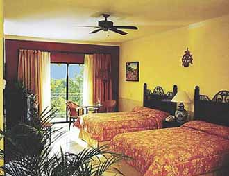 View of a Guest Room at the Occidental Grand Hotel of Cozumel, Mexico